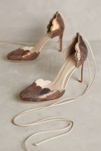 Scalloped D'Orsay Heels from Anthropologie--$198