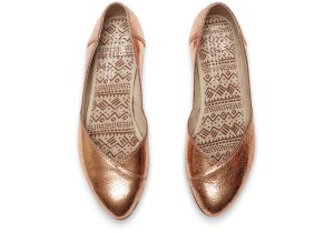 Rose Gold Flat from Toms ($84)