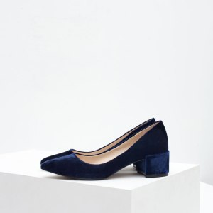 Blue Velvet Block Heel from Zara ($49.90)